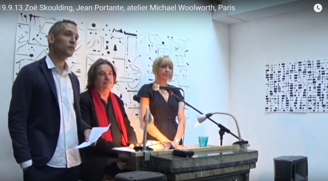 Zoë Skoulding, Jean Portante, atelier Michael Woolworth, Paris