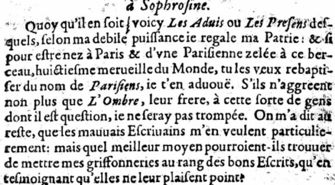 Marie de Gournay, une parisianiste du bon usage